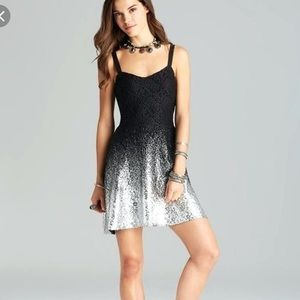 Free people Black and silver dress